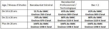 statut contrat de professionnalisation
