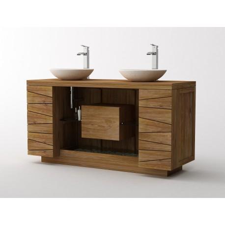 meuble salle de bain teck massif kayumanis nom d un. Black Bedroom Furniture Sets. Home Design Ideas