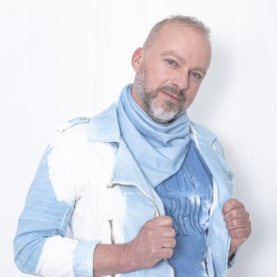 bandana uni bleu